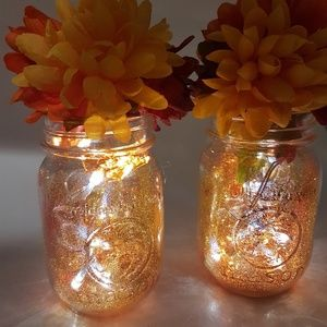 Other - Illuminated Mason Jars Fall Home Decor